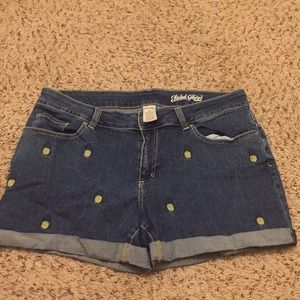 Faded glory size 14 pineapple shorts